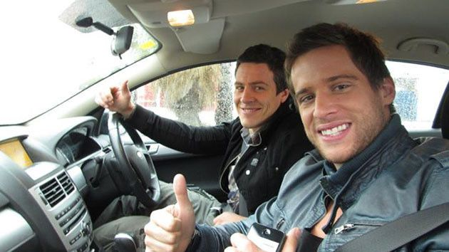 Two of the Braxton Brothers - Brax and Heath (played by Steve Peacocke and Dan Ewing)