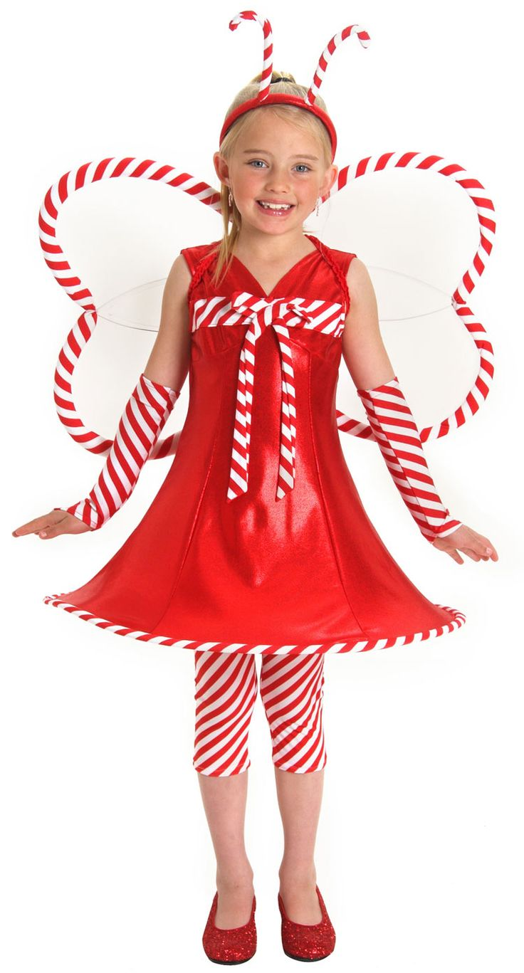 candy costumes | Candy Cane Christmas Fairy Costume - Christmas Costumes