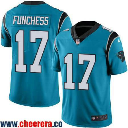 Men's Carolina Panthers #17 Devin Funchess Light Blue 2016 Color Rush Stitched NFL Nike Limited Jersey