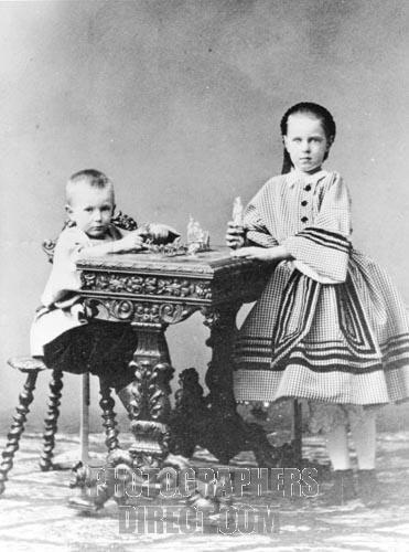 Grand Duchess Maria Alexandrovna of Russia ( 1853-1920 ) and Grand Duke Sergei Alexandrovich of Russia ( 1857-1905 )