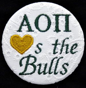 USF: Boom Boom, Usf Bull, Marines Shirts, Usf Games, Embroidered Buttons, Alpha Omicron, Sorority Buttons, Tigers Sweetheart, Go Greek