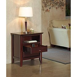 Contemporary Shaker Nightstand With Charging Station | Overstock.com  Shopping   Great Deals On Domusindo