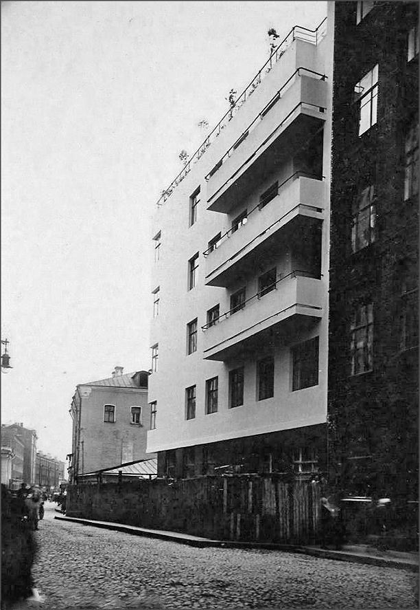 Moisei Ginzburg, Gosstrakh apartment complex in Moscow (1926) | The Charnel-House
