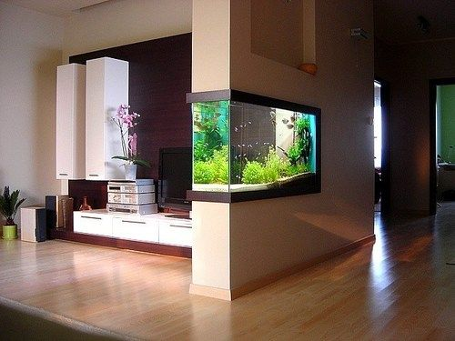 Aquascaping And Interior Design. Love How The Aquarium Is Built In The  Wall! | DISEÑO DE INTERIORES | Pinterest | Aquascaping, Aquarium And The  Aquarium