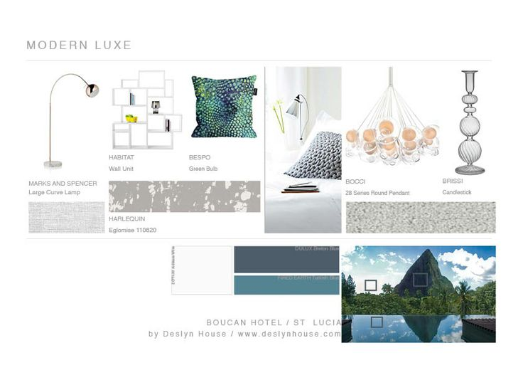 Modern luxe mood board