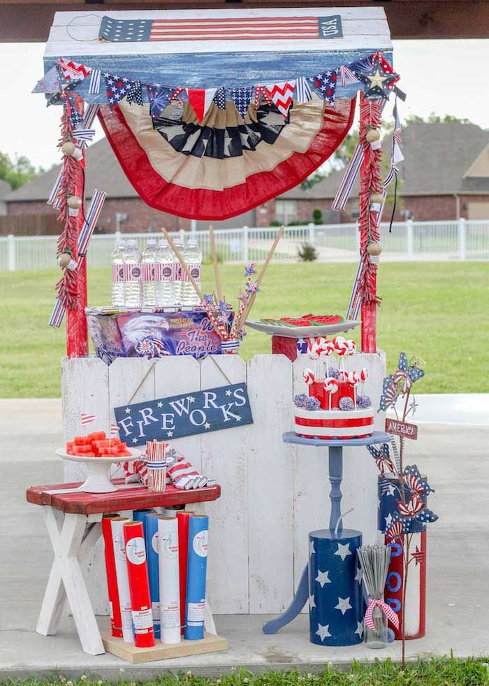 Glorious 4th of July Party {Ideas, Decor, Planning, Styling} via Kara's Party Ideas karaspartyideas.com
