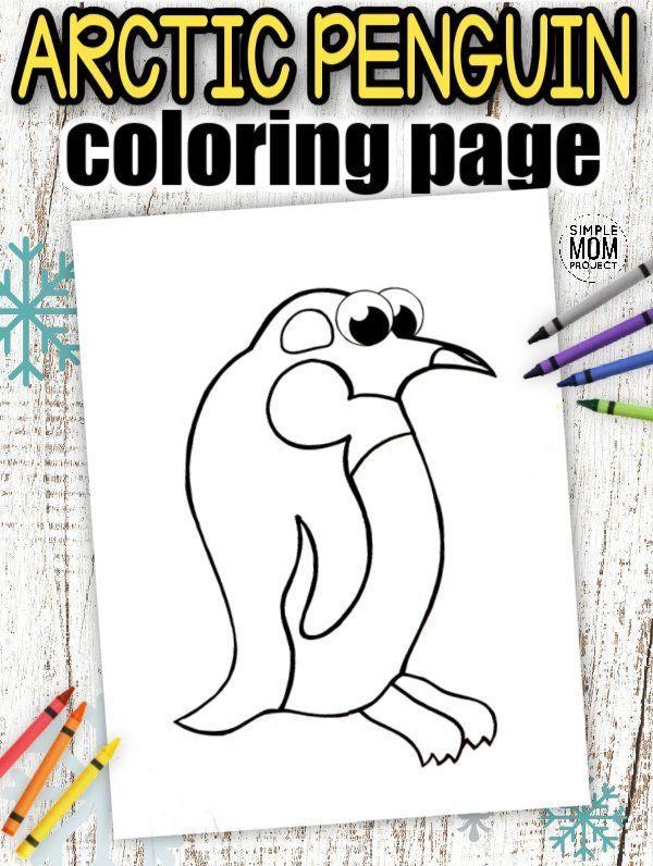 Printable Arctic Animal Coloring Book In 2020 Penguin Coloring Pages Animal Coloring Books Coloring Books
