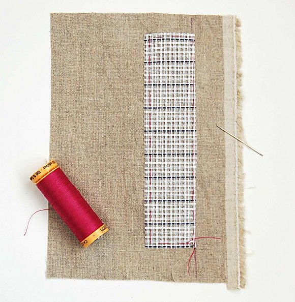customizing with oliver + s: cross-stitching with waste canvas | Blog | Oliver + S