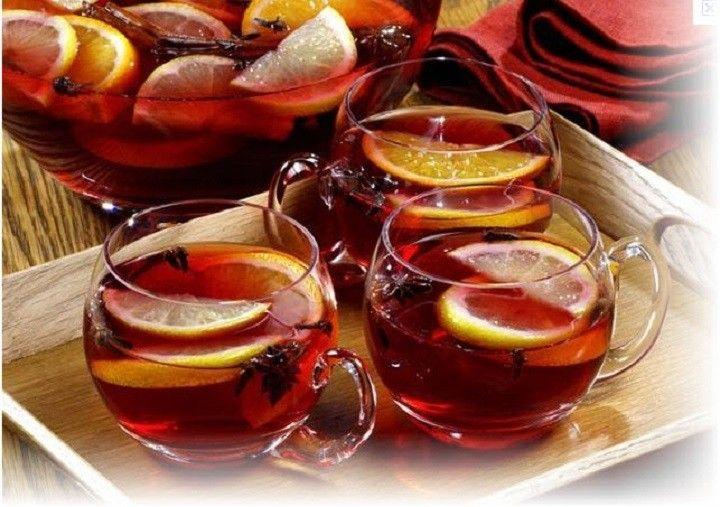 Hozzávalók: – 3 filter fekete tea – 1 liter száraz vörösbor – 20 dkg barna cukor – 5ek. rum – 3 db narancs leve és lereszelt héja (bio narancs...