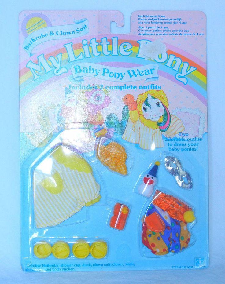 115 MOC NRFP MIP My Little Pony Wear ~*Baby Bathrobe & Clown Suit!*~ #Hasbro