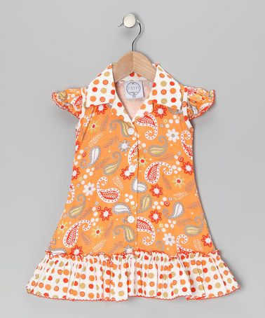 Orange Paisley & Polka Dot Sundress - Infant, Toddler & Girls by Vintage Circus on #zulily today!