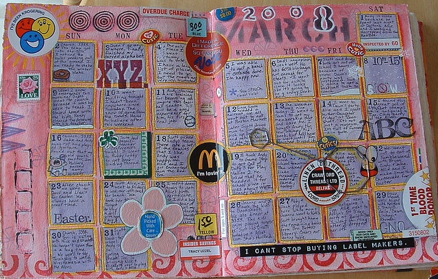Art Journal Calendar Pages : Images about art journal grids on pinterest