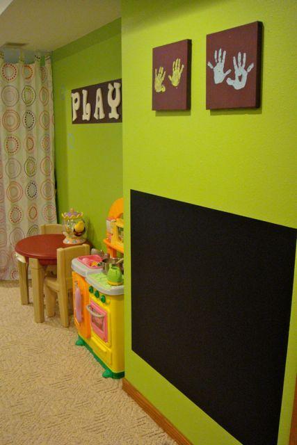Play Room IdeasPlayroom Idea, Playrooms Ideas, Chalkboards, Hands Prints, Play Rooms, Chalk Boards, Room Ideas, Hand Prints, Plays Room