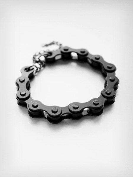 bransoletka łańcuch rowerowy rowerowa czarna punk 1
