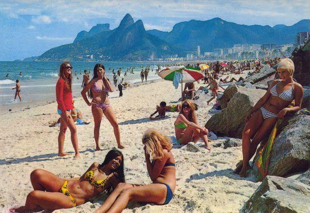 "Rio De Janeiro, 1960s vintage postcard | ""Girls from Ipanema"" | #Brazil #Brazilian #SouthAmerica #beachscene #plaj #Brezilya – Aslı Omur"