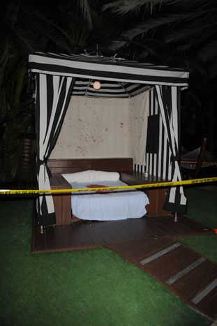 For the Dexter season 4 DVD release party in Miami, Showtime fashioned crime scene sets at the National Hotel's poolside cabanas using polic... Photo: Picture Group LLC
