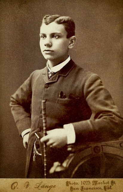 Vintage cdv or cabinet photo of young man