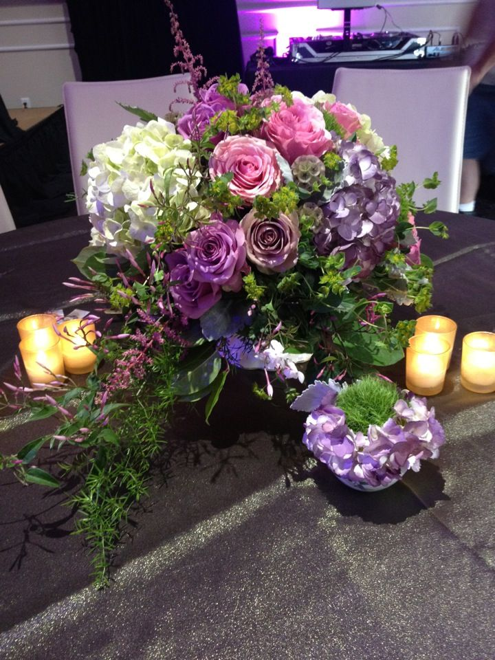 22 best wedding centerpieces images on pinterest weddings wedding purple and dusty pink are an elegant choice for a vintage wedding add some gold english gardenswedding centerpieceswedding junglespirit Image collections