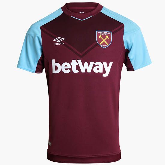 West Ham United 2017-2018 home jersey