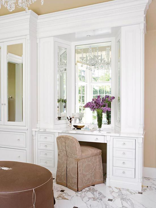11 best built in dressing tables images on pinterest for Bathroom dressing ideas