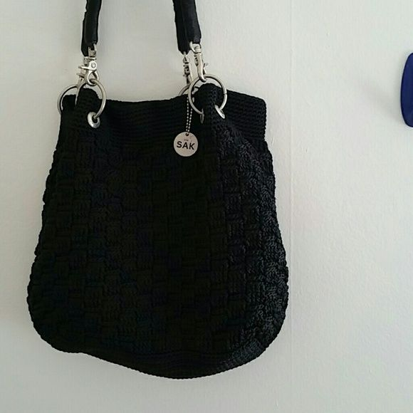 The Sak black crochet handbag purse So cute & perfect for any occasion ...
