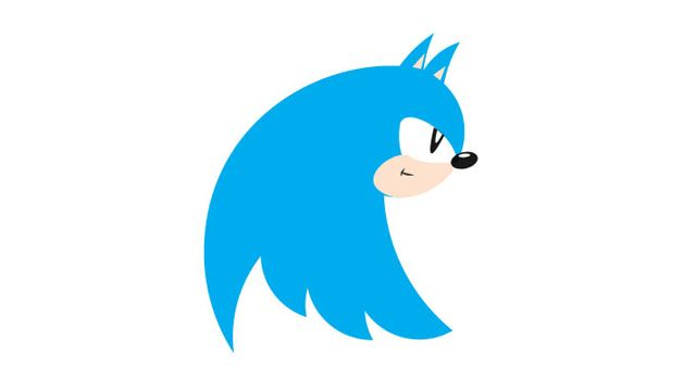 Twitter's New Logo can also be...Sonic the Hedgehog >> i can see the resemblance