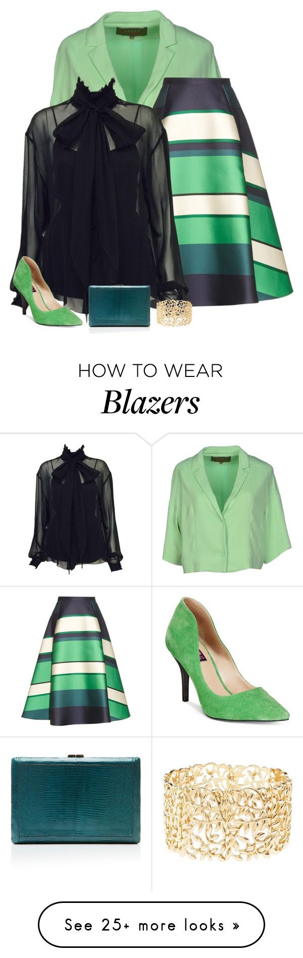 """mint & navy"" by divacrafts on Polyvore featuring Space Style Concept, Lanvin, Karl Lagerfeld, Mojo Moxy, VBH, Charlotte Russe and Original"