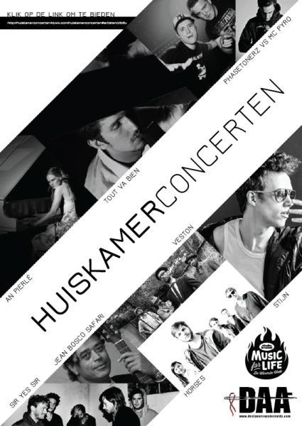 FINAL DAY TO Bid On One Of Our Artists To Play In Your Lounge! #huiskamerconcerten #musicforlife #DAA #designersagainstaids #flanders #brussels