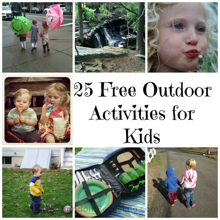 25 Free Outdoor Activities for Kids from RandomRecycling.com