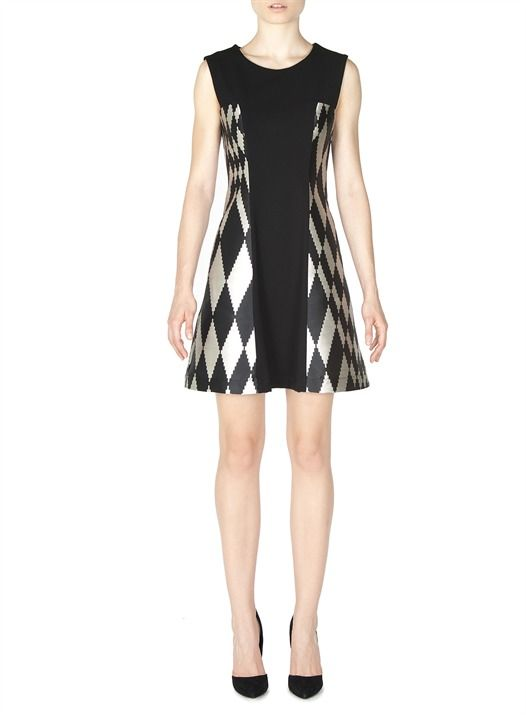 Naughty Dog FW1617 black and white geometric dress, now available 50% off!