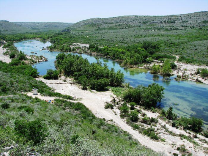 I've never seen water this blue in Texas. Hidden river: Del Rio