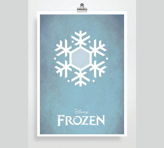 Disney Frozen Movie Poster Minimalist Print
