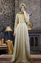 Muçulmanos Vestidos de Noite do baile de Finalistas do Laço do vintage 2017 Mangas Compridas Gola Alta Sashes Vestidos de Noite Formal Vestidos Abendkleider 2017 E179(China (Mainland))