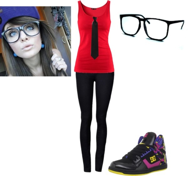 """""""Who says girls can't be hot nerds?"""" by rockerchic0 ❤ liked on Polyvore"""