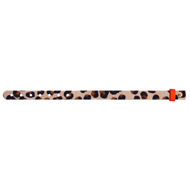 No.151 Furry Hair Leather Bracelet / Leo