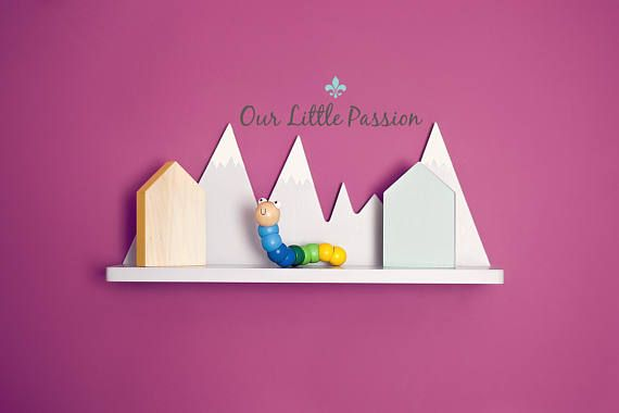 Hey, I found this really awesome Etsy listing at https://www.etsy.com/listing/546489287/mountain-shelf-shelf-for-baby-nursery