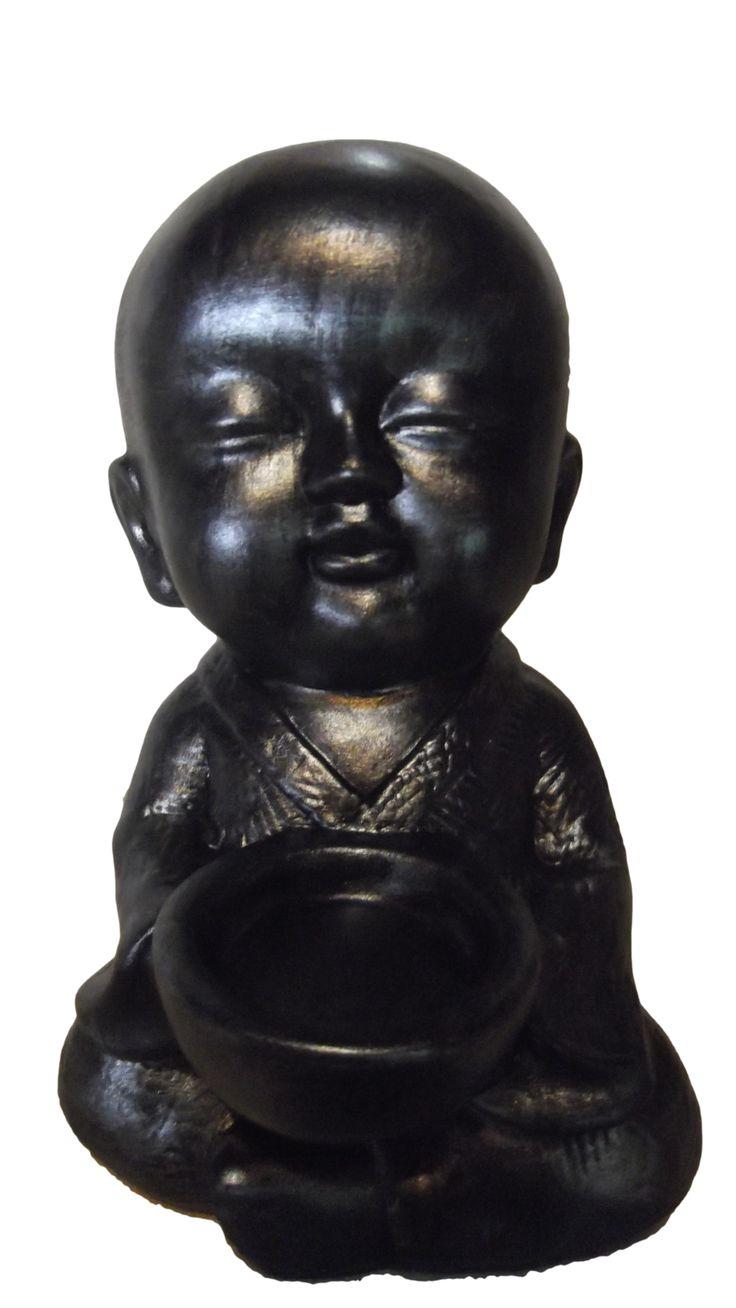 monge com taca para vela 17cm
