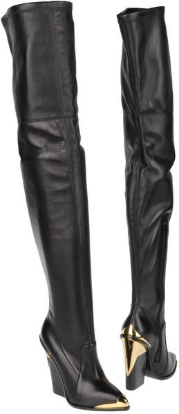 Versace Boots in Black | Lyst