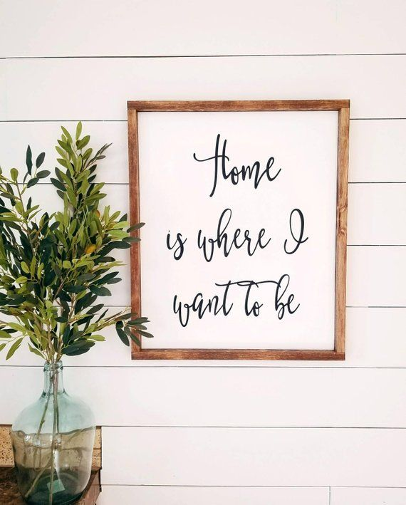 20x26 Home Is Where I Want To Bewood Signrustic Signsentryway