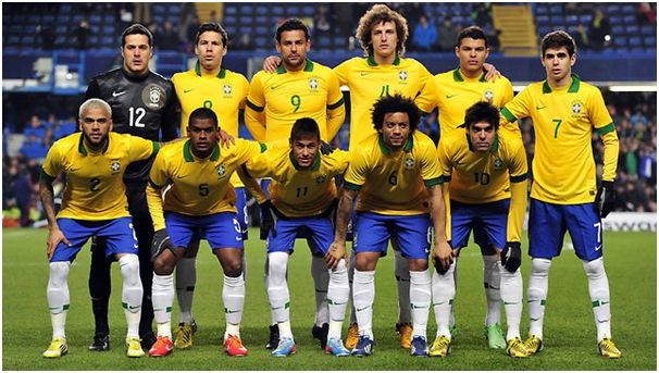 Brazil Football Team of World Cup 2014 in Brazil #worldcup #2014 #brazil