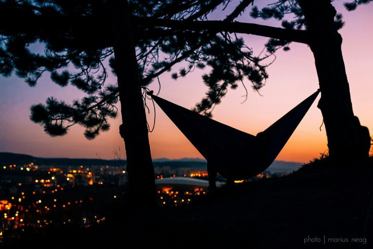 Gorgeous Sunset. There's a sunrise and a sunset every single day, and they're absolutely free. Don't miss so many of them... #sunset #hammock #cluj #romania #clujlife #nikon #friends