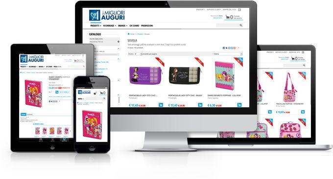 E-commerce di biglietti di auguri, gadgets e scolastica, con un'innovativo configuratore per personalizzare il proprio biglietto in tutta semplicità.