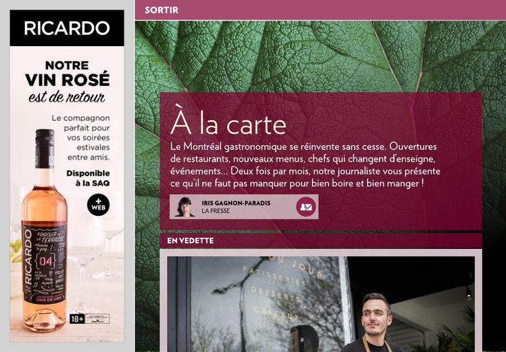 À la carte - La Presse+