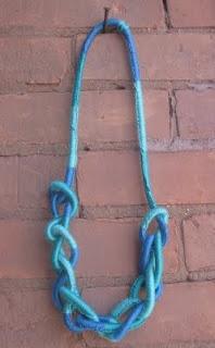 Thanks, I Made It: LYLASOTFOJ: Diy Wraps, Rope Necklace, Wraps Ropes, Diy Summer, Ropes Necklaces, Summer Necklaces, Cool Necklaces, Friendship Necklaces, Fabrics Necklaces