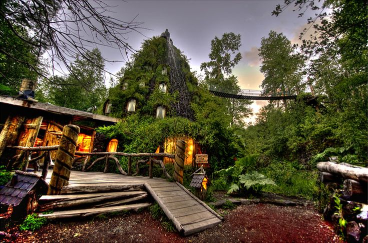 Magic Mountain Hotel – an Artificial Geyser in Nature Reserve, Chile