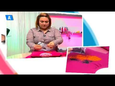 LA EXPLANADA. Alicante Craft. Tutorial Estampación camisetas con plastidecor - YouTube