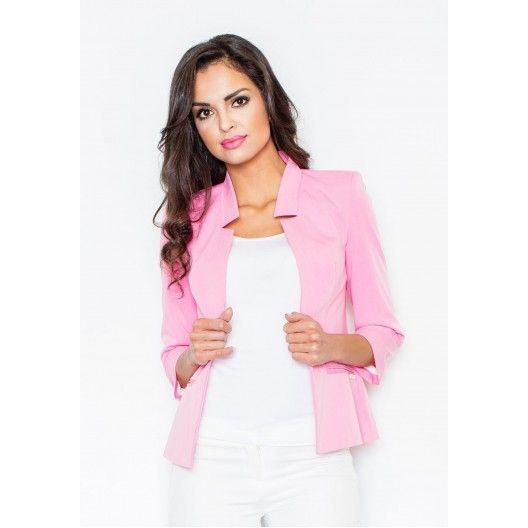 Dámske saká svetlo ružovej farby - fashionday.eu