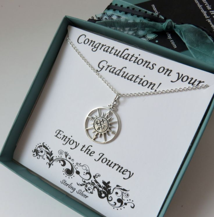Graduation gift for her, sterling silver, high school graduaton gift, college graduation gift, compass necklace,large compass,silver compass by MarciaHDesigns on Etsy https://www.etsy.com/listing/285472633/graduation-gift-for-her-sterling-silver