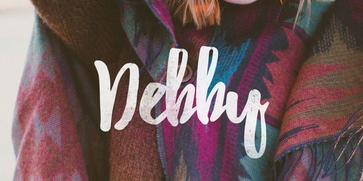 Debby Brush Font