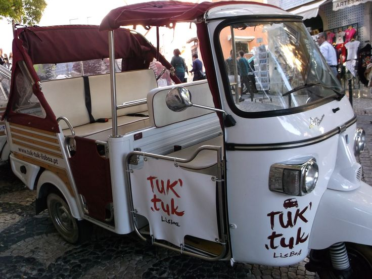 You can even find tuk-tuks in Lisbon, Portugal